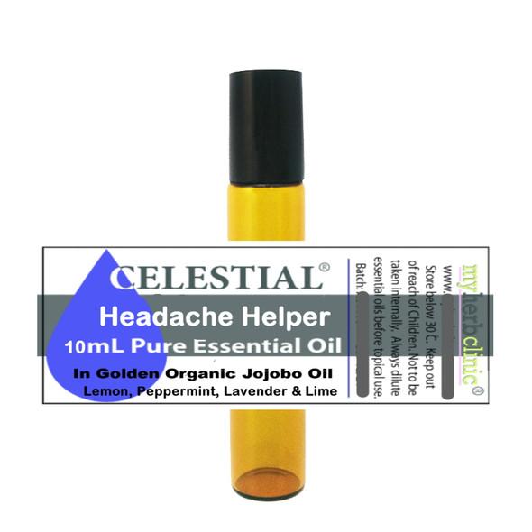 CELESTIAL ® HEADACHE HELPER ESSENTIAL OILS PULSE POINTS ROLL ON