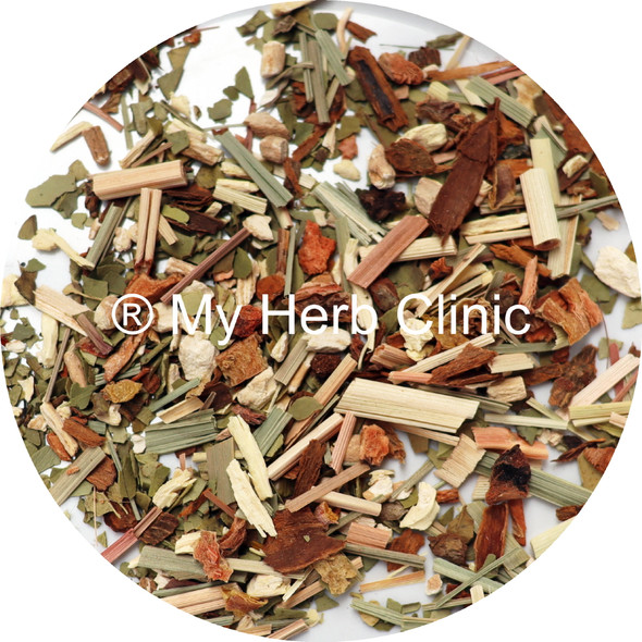 MY HERB CLINIC  ® PRE-WORKOUT BOOST ORGANIC WELLNESS TEA BLEND - TRAIN HARDER
