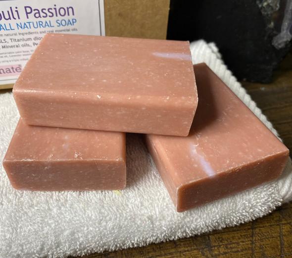 CELESTIAL® PATCHOULI PASSION PREMIUM QUALITY SOAP BARS Set of 3 Box