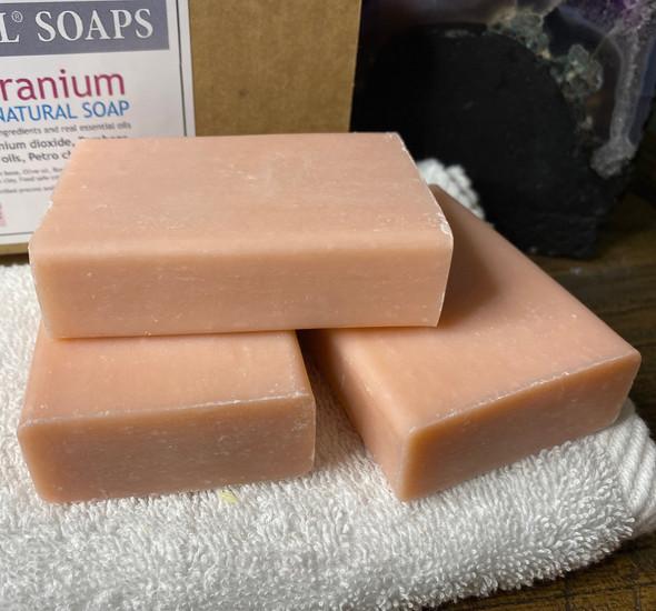 CELESTIAL® ROSE GERANIUM PREMIUM QUALITY SOAP BARS Set of 3 Box
