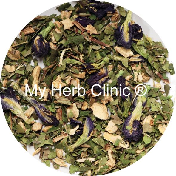 MY HERB CLINIC  ® BLUE BUTTERFLY BEAUTY ORGANIC HERBAL WELLNESS TEA - SKIN HAIR