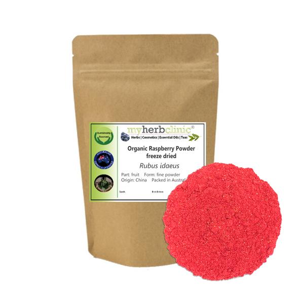 MY HERB CLINIC ® RASPBERRY FRUIT POWDER ORGANIC freeze dried - Rubus ideaus