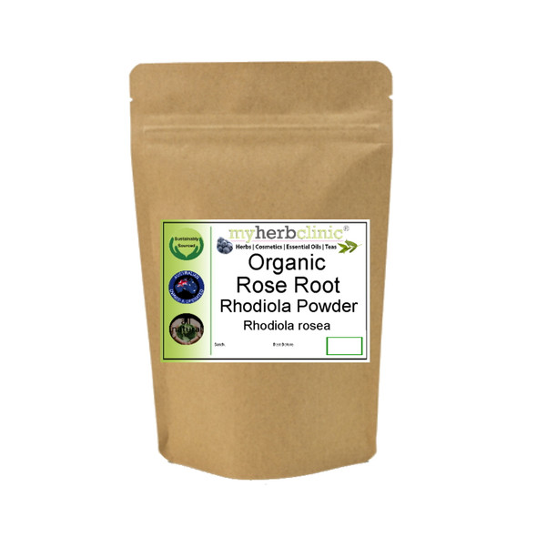 MY HERB CLINIC ® ROSE ROOT ORGANIC POWDER GOLDEN ROOT NATUROPATHICALLY PREPARED Rhodiola GYM