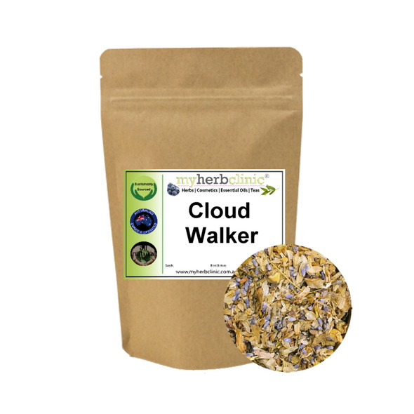 MY HERB CLINIC ® CLOUD WALKER PUFF HERBAL TEA ~ SLEEP WELL - PASSIONFLOWER MULLEIN HOPS