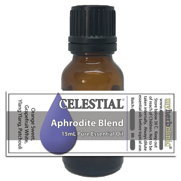 CELESTIAL ® APHRODITE 100% ESSENTIAL OIL BLEND ORANGE GRAPEFRUIT PATCHOULI YLANG