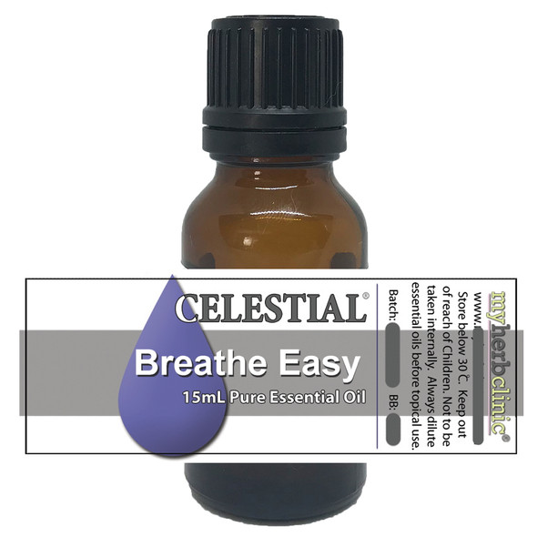 BREATHE EASY ORGANIC ESSENTIAL OIL BLEND Cedar Atlas Lemon Peppermint Eucalyptus