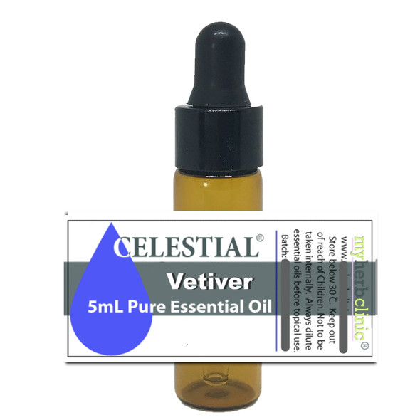 CELESTIAL ® VETIVER THERAPEUTIC GRADE ESSENTIAL OIL NATUROPATHICALLY PREPARED