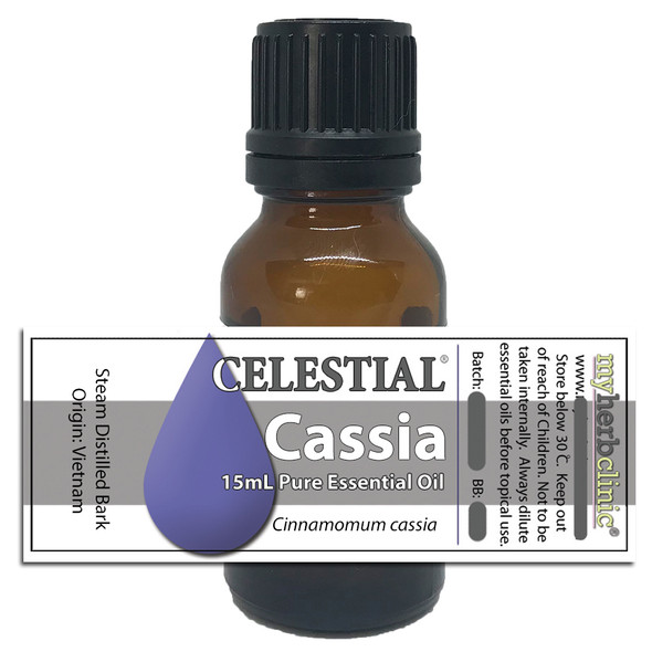 CELESTIAL® CASSIA THERAPEUTIC GRADE ESSENTIAL OIL DEPRESSION STRESS Cinnamomum cassia
