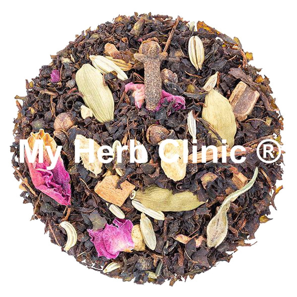 AUSSIE CHAI TEA CINNAMON GINGER CARDAMOM CLOVES FENNEL ROSE PETAL NUTMEG