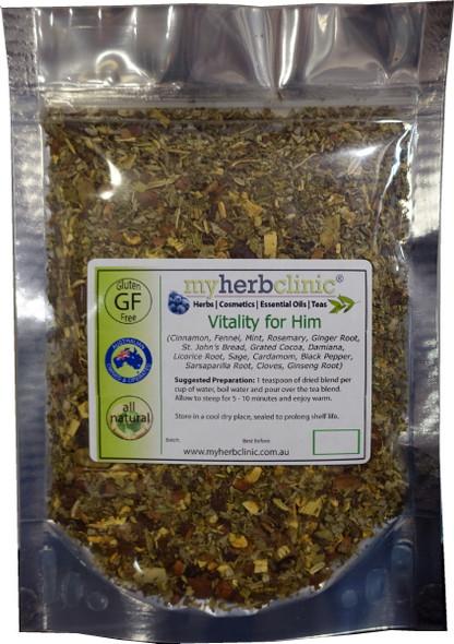 MY HERB CLINIC ® VITALITY FOR HIM ~ HERBAL BLEND TEA ~ APHRODISIAC