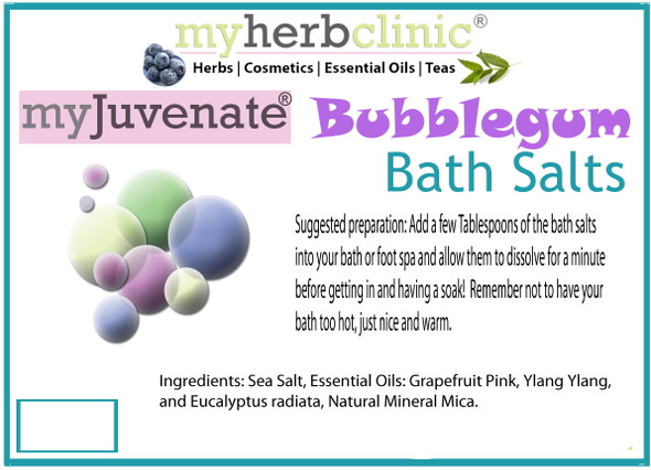 BUBBLE GUM AROMATHERAPY BATH SALTS ~ THERAPEUTIC GRADE ESSENTIAL OILS