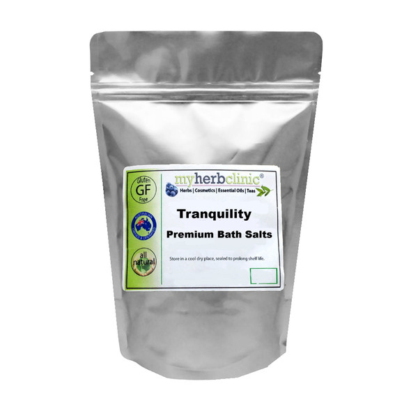 TRANQUILITY AROMATHERAPY BATH SALTS ~ THERAPEUTIC GRADE ESSENTIAL OILS RELAX