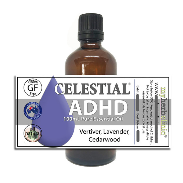 CELESTIAL ® ADHD THERAPEUTIC GRADE ESSENTIAL OIL BLEND FOCUS CALM CONCENTRATION
