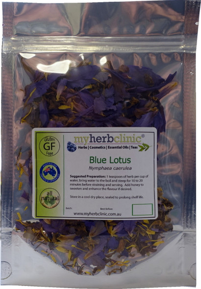 MY HERB CLINIC ® BLUE LOTUS ORGANIC WATERLILY Nymphaea Caerulea - RELAX MELLOW