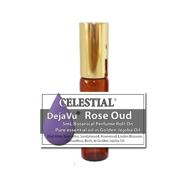 DejaVu® ROSE OUD ORGANIC ROLL ON PERFUME - REFRESHING PLEASING - APHRODISIAC