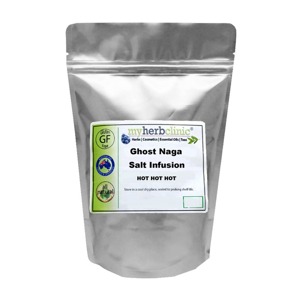 GHOST NAGA JOLOKIA INFUSED SALT - EXTREME HEAT - CHILLI CHILI GHOST PEPPER