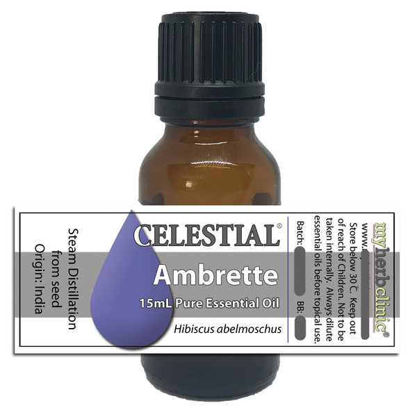 CELESTIAL® AMBRETTE SEED ESSENTIAL OIL ~ APHRODISIAC ANXIETY Hibiscus abelmoschus MUSK