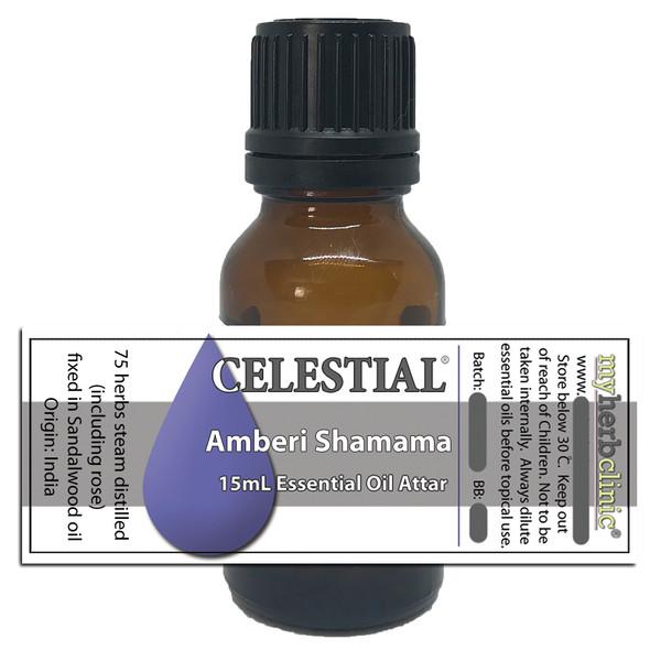 CELESTIAL ® AMBERI SHAMAMA ATTAR ESSENTIAL OIL - 75+ HERBS ROSE SANDALWOOD SPICES BEAUTIFUL