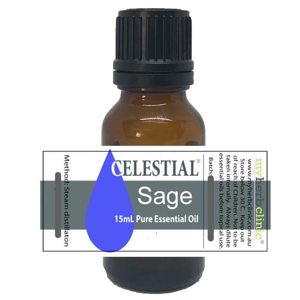 CELESTIAL ® SAGE THERAPEUTIC GRADE PURE ESSENTIAL OIL MENTAL FATIGUE DEPRESSION