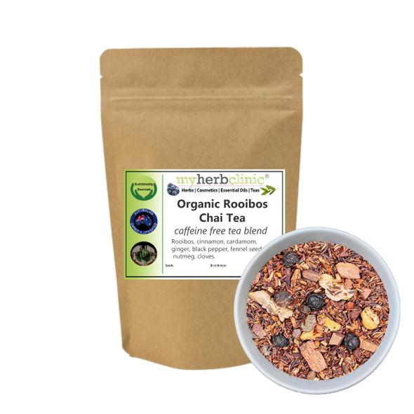 MY HERB CLINIC ® ROOIBOS CHAI ORGANIC HERBAL TEA CAFFEINE FREE - DETOX SKINNY