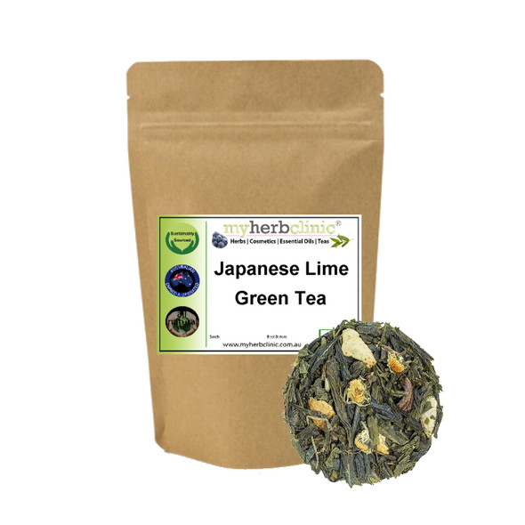 JAPANESE LIME GREEN TEA - NATUROPATHIC HERBAL TISANE - SERENE BEAUTIFUL FLAVOUR