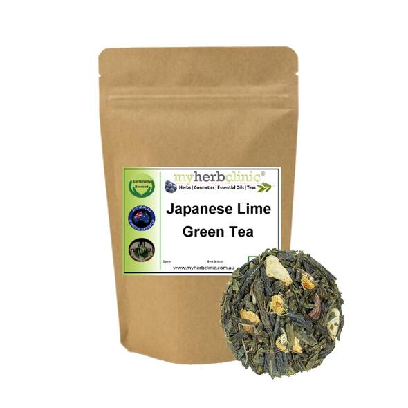 JAPANESE LIME GREEN TEA - NATUROPATHIC HERBAL TISANE - SERENE BEAUTIFUL FLAVOUR