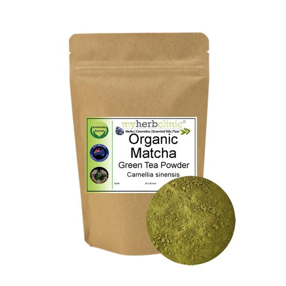 MY HERB CLINIC ® MATCHA ORGANIC POWDER JAPANESE GREEN TEA LATTE SUPERFOOD HEALTH