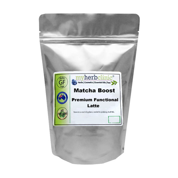 BOOST MATCHA PREMIUM TEA LATTE CINNAMON GUARANA YERBA MATE - VEGAN GF SUGAR FREE