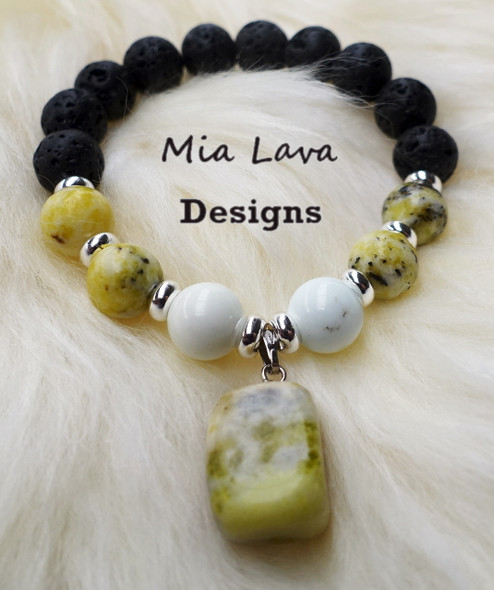 YELLOW TURQUOISE DIFFUSER BRACELET PERSONAL POWER