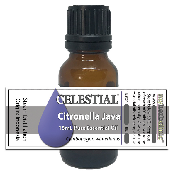 CELESTIAL ® CITRONELLA JAVA ESSENTIAL OIL - AROMATHERAPY MASSAGE SOOTHING BUG REPELLENT