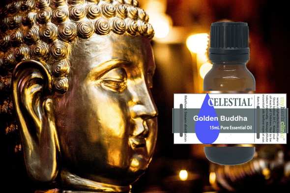 CELESTIAL | GOLDEN BUDDHA THERAPEUTIC GRADE ESSENTIAL OIL BLEND - BALANCE MIND BODY & SPIRIT