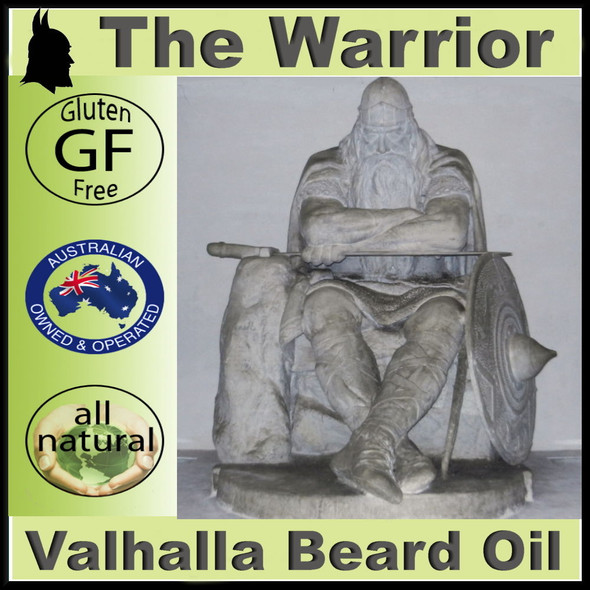 VALHALLA BEARD OIL - THE WARRIOR - NATURAL - ESSENTIAL OILS - GET YOUR BEARD ON