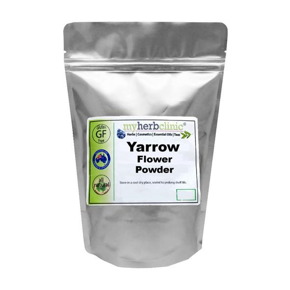 MY HERB CLINIC ® YARROW FLOWER POWDER HERBAL ANTI-OXIDANT Achillea Millefolium