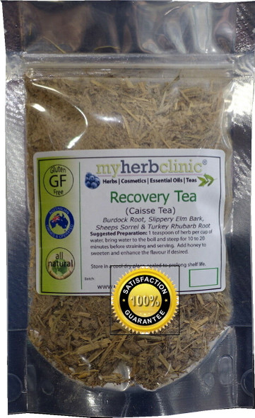 RECOVERY TEA ORG. 4X HERBS BLEND SHEEP SORREL + BURDOCK + SLIPPERY ELM + RHUBARB