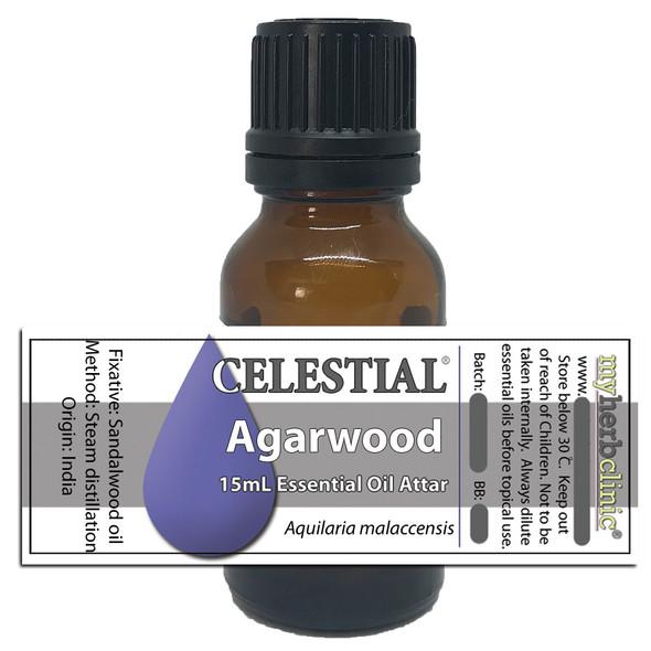 CELESTIAL | PURE AGARWOOD ATTAR THERAPEUTIC GRADE ESSENTIAL OIL OUDH APHRODISIAC MEDITATE