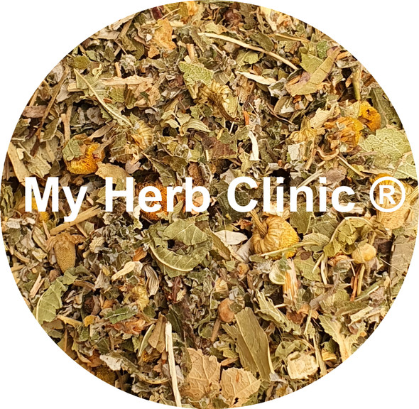 MY HERB CLINIC ® CALM THE FARM - ORGANIC CALMING HERBAL TEA BLEND - STRESS WORRY
