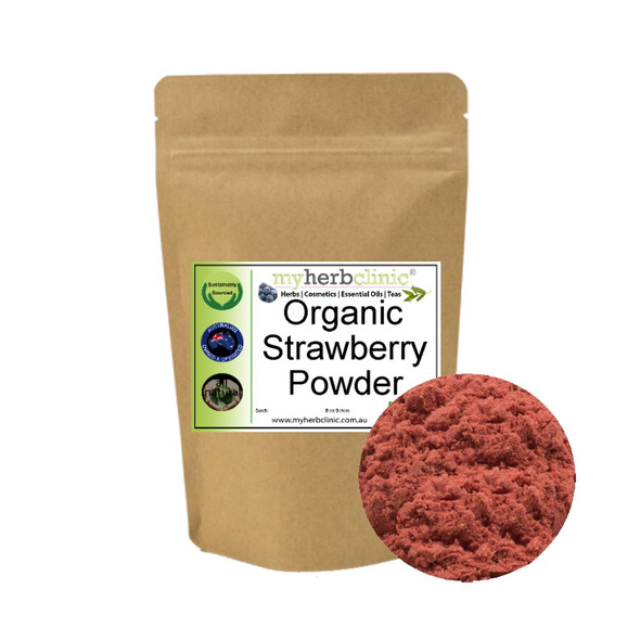 MY HERB CLINIC ® STRAWBERRY FOOD POWDER ~ ORGANIC ~ NATUROPATHICALLY PREPARED