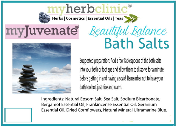 BEAUTIFUL BALANCE PREMIUM THERAPEUTIC GRADE ALL NATURAL BATH SALTS
