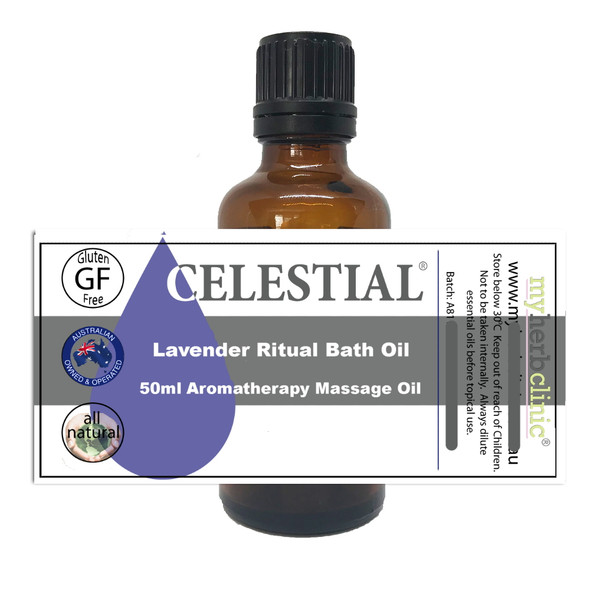 LAVENDER RITUAL BATH OIL - HEALTHY NATURAL PURE - DECADENT RELAXATION