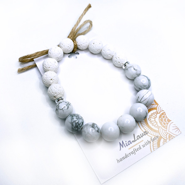 MiaLava | AROMATHERAPY DIFFUSER BRACELET - SERENITY - CALMING - HAND CRAFTED