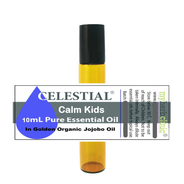 CELESTIAL ® CALM KIDS THERAPEUTIC ESSENTIAL OIL ORGANIC ROLL ON TRANQUIL PEACEFUL ADHD