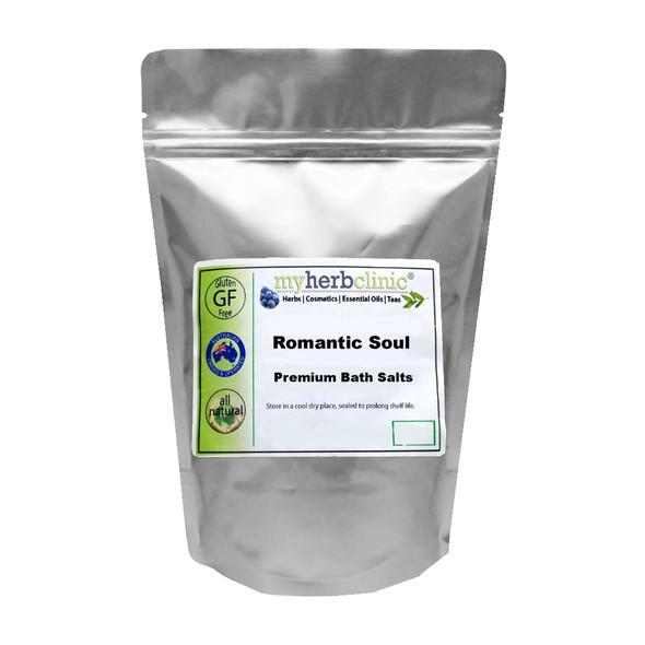 ROMANTIC SOUL PREMIUM THERAPEUTIC GRADE ALL NATURAL BATH SALTS -  RENEW & REFRESH