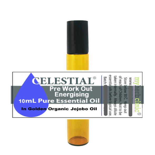 CELESTIAL | PRE WORKOUT ENERGISING THERAPEUTIC ESSENTIAL OIL ROLL ON