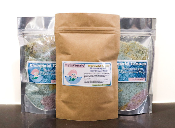 Mermaid Kisses - Moisturising Bath Fizzy Powder (Crumble) - Magic Bath Time! 200g
