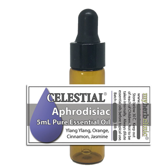 CELESTIAL ® APHRODISIAC ORGANIC ESSENTIAL OIL BLEND SEXY YLANG YLANG JASMINE ORANGE CINNAMON