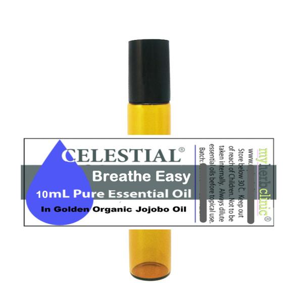 CELESTIAL ® BREATHE EASY ROLL ON 10ml ESSENTIAL OIL PURE PLANT SYNERGY
