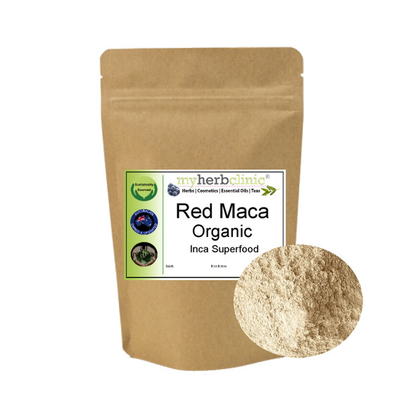 MY HERB CLINIC ® RED MACA ORGANIC POWDER - MENS WOMENS BALANCE