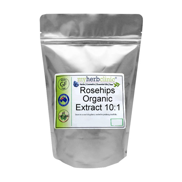 MY HERB CLINIC ® ROSEHIPS ORGANIC EXTRACT 10:1 POWDER 50gms EQUIVALENT TO 500gms