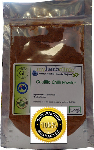 MY HERB CLINIC ® GUAJILLO CHILLI POWDER 50g -1st GRADE PREMIUM QUALITY