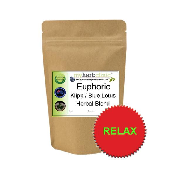 MY HERB CLINIC ® EUPHORIC ORGANIC BLEND HERBAL TEA - KLIPP DAGGA & BLUE LOTUS